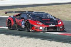 Team Barwell Motorsport ¡ N GT3 de Lamborghini Huracà 24 heures de Barcelone Photographie stock libre de droits