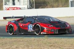 Team Barwell Motorsport ¡N GT3 de Lamborghini Huracà 24 horas de Barcelona Imagenes de archivo