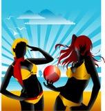 Team beach volleyball Royalty Free Stock Photo
