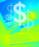 Team bearbeitet Dollar Lizenzfreie Stockbilder