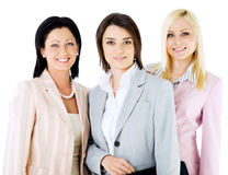 Team beautiful businesswomen Stock Photo