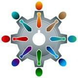 Team bedrijfsembleem vector illustratie