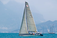 Team Beecom. Isao Mita / Kelvin Harrap - SLAM sailing gear From 9th - 13th July the Malcesine SLAM CUP italy royalty free stock images