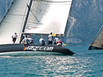 Team Beecom. Isao Mita / Kelvin Harrap - SLAM sailing gear From 9th - 13th July the Malcesine SLAM CUP italy royalty free stock image