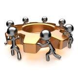 Team begreppet för teamwork för effektivitet för processen för arbetssamarbetsaffären stock illustrationer