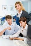 Team bei der Sitzung Lizenzfreies Stockfoto