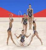 Team Belarus Rhythmic Gymnastics royalty free stock images