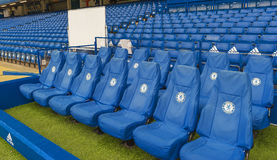 Team bench at Stamford Bridge Royalty Free Stock Image