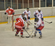 Team Big Red Machine de la Russie de hockey sur glace joue encore Photographie stock