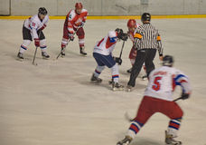 Team Big Red Machine de la Russie de hockey sur glace joue encore Photo libre de droits