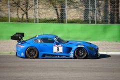 Team Black Falcon Mercedes SLS AMG GT3 à Monza Photo libre de droits