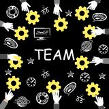 The team black Royalty Free Stock Images