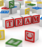 Team block Stock Photo