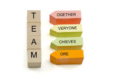 Team Blocks and Sticky Notes Stock Photo