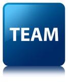Team blue square button Stock Image