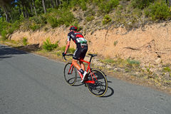 BMC Racing Cyclist After Accident La Vuelta España stock photography