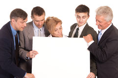team with board Stock Photo
