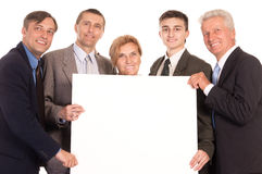 Team with board Stock Image
