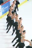 Team Boomerang in de lijn Royalty-vrije Stock Afbeelding