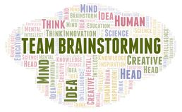 Team Brainstorming word cloud. Wordcloud made with text only stock illustration