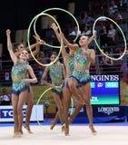 Team Brazil Rhythmic Gymnastics stock photography