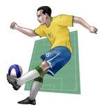 Team Brazilië Stock Foto