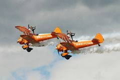 Team Breitling Wingwalkers Stockbilder
