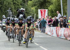 Team Bretagne-Seche Environnement - Team Time Trial 2015 Royaltyfria Foton