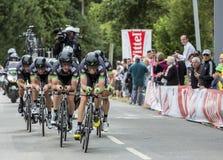Team Bretagne-Seche Environnement - Team Time Trial 2015 Royalty Free Stock Photos