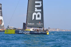 Team Brunel In The 2014 - 2015 Volvo Ocean Race Sailing yacht Yachting Stock Images