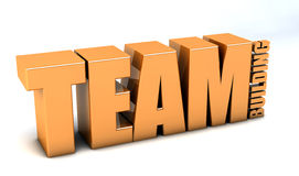Team building. 3d design. Team building text and white background Stock Photography