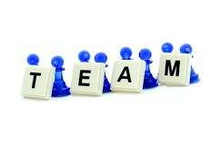 Team building. Illustration of a group of people cooperating during team building training Royalty Free Stock Image