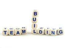 Team Building. Made of Spelling Blocks Isolated on a White Background Royalty Free Stock Photo