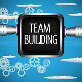 Team building. Abstract colorful background with black metallic frame with the text team building written with capital letters Royalty Free Stock Photos