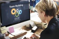Team Building Business Collaboration Development begrepp Royaltyfria Bilder