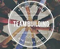 Team Building Business Collaboration Development-Concept Stock Afbeelding
