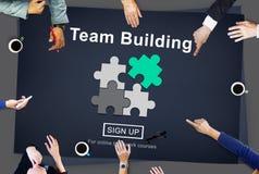 Team Building Business Collaboration Development-Concept Stock Afbeeldingen