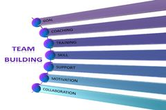 Team Building chart, business concept isolated on white background. royalty free stock photography