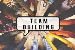 Team Building Collaboration Business Unity gruppbegrepp Royaltyfria Foton