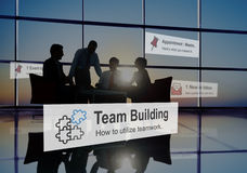 Team Building Collaboration Connection Corporate Teamwork Concep. T Stock Photography