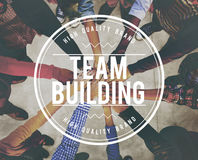 Team Building Collaboration Connection Corporate Teamwork Concep. People Team Building Collaboration Connection Corporate Teamwork Royalty Free Stock Photo