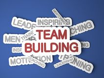 Team Building Concept. Team Building Concept on Blue Background. 3D Render Stock Photo