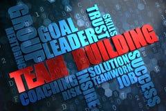 Team Building. Concept de Wordcloud. Images libres de droits