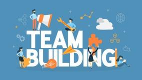 Team building concept illustration royalty free illustration