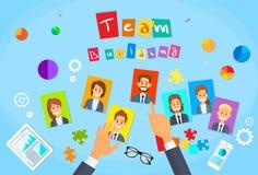 Team Building Concept Hands Photos-Bedrijfspersoon vector illustratie