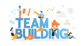 Team building concept illustration vector illustration