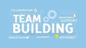 Team building concept. Team building concept illustration. Creating and leading the team Stock Image
