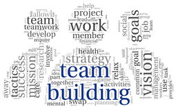 Team building concept in word tag cloud Royalty Free Stock Images