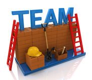 Team building. In the design of the information related to the creation of business teams Royalty Free Stock Photo