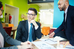Team Building Game in Business Meeting Stock Images